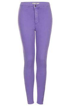MOTO Purple Joni Jeans - Joni Super High Waisted Jeans - Jeans  - Clothing