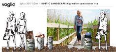 Halkoja ja käpyjä. Voglian syksyn somistuksen suunnittelua. Rustic, Landscape, Coat, Country Primitive, Scenery, Sewing Coat, Retro, Farmhouse Style, Peacoats