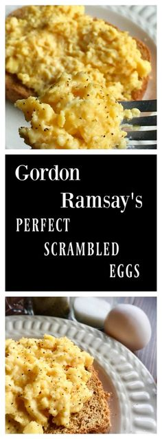 Ramsay's Perfect Scrambled Eggs Gordon Ramsay's revealed way to execute a perfectly creamy and fluffy batch of scrambled eggs.Gordon Ramsay's revealed way to execute a perfectly creamy and fluffy batch of scrambled eggs. Egg Recipes For Dinner, Healthy Egg Recipes, Brunch Recipes, Cooking Recipes, Healthy Food, Recipes With Eggs, Best Egg Recipes, Budget Recipes, Vegetarian Food