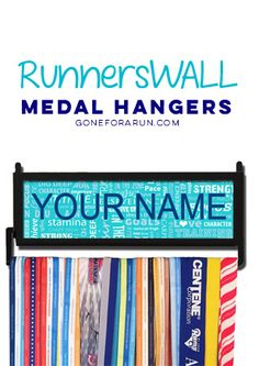 Create your own personalized medal hanger, exclusively from Gone For a Run!