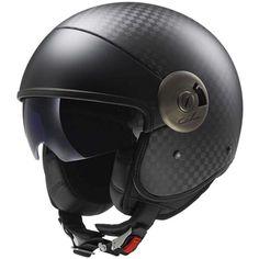 Helmets Cabrio Carbon Open Face Motorcycle Helmet with Sunshield (Black, XX-Large) Carbon Fiber Motorcycle Helmet, Open Face Motorcycle Helmets, Open Face Helmets, Bicycle Helmet, Riding Helmets, Biker Helmets, Scooter Motorcycle, Vespa Scooters, Riding Gear