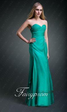 Green Floor Length Chiffon Criss Cross Side Draping Prom Dress