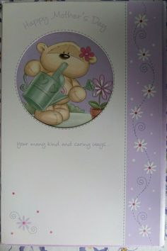 MOTHERS DAY CARD kind and caring ways fizzy moon design LARGE card #FizzyMoon #MothersDay Fizzy Moon, Moon Design, Main Colors, Mothers, Greeting Cards, Handmade Items, Learning, Day, Things To Sell
