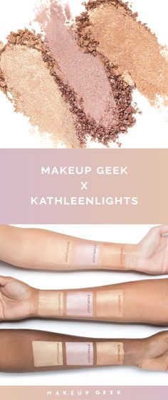 This collab is LIT! #makeupgeekxkathleenlights