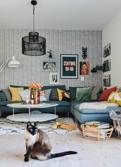 "Family sofa - finally ""together"" and more space for everyone ., Family sofa – finally ""together"" and more space for everyone & everything ! Diy Sofa, Söderhamn Sofa, Family Bed, Family Room, Ikea Sofas, Ikea Living Room, Minimalist Decor, Pillows, Furniture"