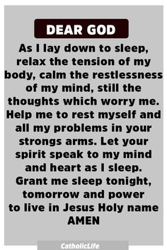 Powerful Prayer Before Sleep Powerful Prayer Before Sleep Prayer Scriptures, Bible Prayers, Faith Prayer, God Prayer, Power Of Prayer, Bible Verses Quotes, Faith Quotes, Life Quotes, Prayer Message