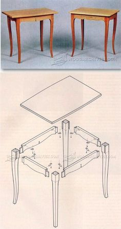 Contemporary Table Plans - Furniture Plans and Projects | WoodArchivist.com