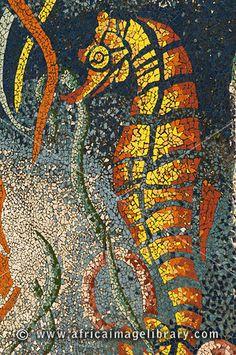 Mosaic on the Corniche, Marsa Matruh, Mediterranean Coast, Egypt