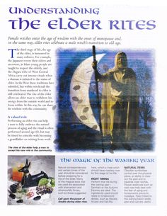 Book of Shadows: BOS Understanding the Elder Rites page. Wicca Witchcraft, Pagan Witch, Witches, Tarot, Male Witch, Eclectic Witch, Rite Of Passage, Practical Magic, Mind Body Spirit