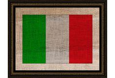 Italian Flag on Burlap on OneKingsLane.com