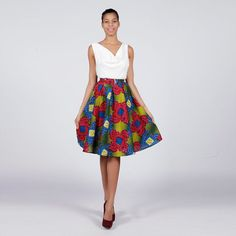 Hey, I found this really awesome Etsy listing at https://www.etsy.com/listing/192769445/african-print-skirt-flower-power-ankara