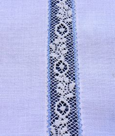 How to insert lace onto fabric. Heirloom sewing by machine. Must remember for making Sarah Junior's christening dress