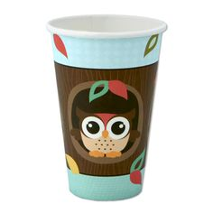 Owl - Look Whooo's Having A Baby  - Hot/Cold Cups - 8 Qty/Pack - Baby Shower Party Supplies