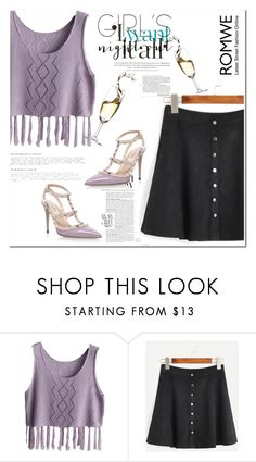 """""""Romwe"""" by fashionvoice2015 ❤ liked on Polyvore featuring Valentino"""