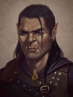 Image result for half orc character art