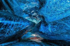 Glacial Caves In Iceland. Photographer Unknown. [990x742]