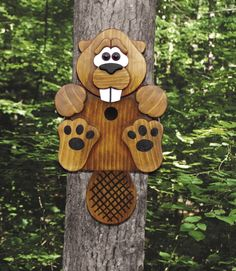 19-W3514 - Beaver Birdhouse Woodworking Plan
