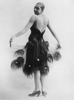 Josephine Baker's Life and Career in Photographs: Josephine Baker in a Feather Dress