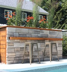 The Kenya Stone is amongst the most popular in the Alternative Masonry collection. This stone is a lightweight, easy to install product for the interior or exterior of your home. It is another product installed without mortar. Modern Backyard, Outdoor Kitchens, Kenya, Interior And Exterior, Islands, Alternative, Popular, Stone, Easy