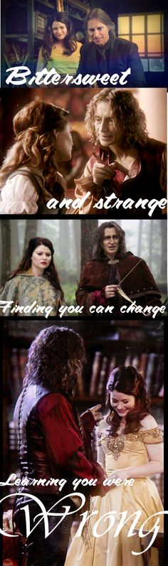 Bittersweet and strange, finding you can change, learning you were wrong. Beauty And The Beast. #Rumbelle