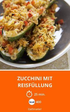 Zucchini mit Reisfüllung - smarter - Kalorien: 400 Kcal - Zeit: 25 Min. | eatsmarter.de