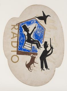 Untitled (Radio) by Bill Traylor. Search the Smithsonian American Art museum collection, one of the world's largest and most inclusive collections of art made in the United States. Museum Of Fine Arts, Art Museum, Scary Animals, African American Culture, American History, Frame By Frame Animation, Blue Gloves, Antiques Online, Ways Of Seeing