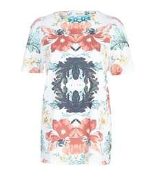 Cream poppy tapestry print t-shirt £20.00