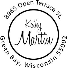 Exceptionally created by our teams of dedicated staff and shipped out to you as swiftly as we can, this Martin Center Name Address Stamp will lend a striking artwork to all of your outward bound mail.