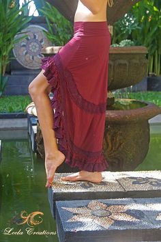 DISCOUNT. Lace ruffle Princess skirt by LeelaCreationsBali on Etsy