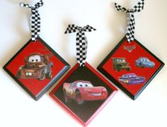 Hey, I found this really awesome Etsy listing at https://www.etsy.com/listing/79323413/wall-plaques-disney-cars-inspired-set-of