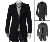 Men's Double Breasted Belted Coat (+colors)
