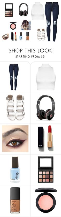 """What to wear?"" by designlover5 ❤ liked on Polyvore featuring WearAll, Beats by Dr. Dre, Chanel, Sigma, NARS Cosmetics and MAC Cosmetics"