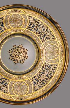 Lobmeyr, Vienna (design J. Machytka and F. Royal Pattern, Islamic Decor, Arabic Pattern, Islamic Patterns, Copper Art, Iranian Art, Turkish Art, Arabic Art, Islamic Art Calligraphy