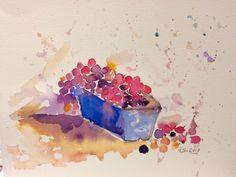 Grapes in the box (2017) Watercolor by Jayati Gupta | Artfinder