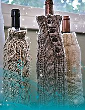Ravelry: Wine Bottle Cozies (FT235) pattern by Therese Chynoweth