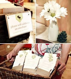 Great Idea for a SHOWER- Have each guest self-address an envelope for guest of honor to Write & mail Thank you cards.