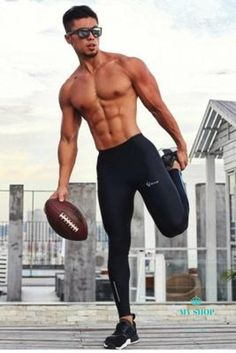 High Quality Jogger Pants Men Compression Fitness Bodybuilding Gyms Pants For Runners Clothing Sweat Trousers Britches Gym Pants, Jogger Pants, Runners Outfit, Mens Compression Pants, Calf Muscles, Mens Activewear, Shirtless Men, Gym Wear, Academia