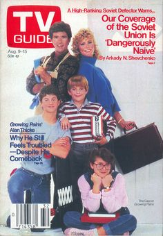 """The cast of """"Growing Pains"""" on the cover of TV Guide - August 9, 1986"""