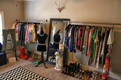 Image of: Heavy Duty Garment Rack for Women