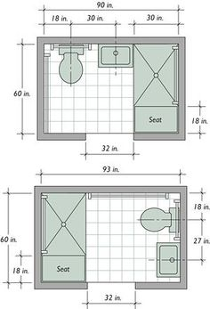 Bathroom layout dimensions
