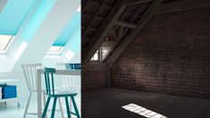 Skylight Discover Make the most of your new loft conversion and bring in twice the daylight with VELUX roof windows. Attic Bedrooms, Nice Bedrooms, Bedroom Loft, Kids Bedroom, Loft Conversion Before And After, Loft Design, House Design, Roof Dome, Home Decor Bedroom