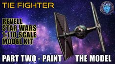 In this video we paint the Revell TIE Fighter model using a cast iron metallic paint along with paint washe. Tie Fighter, Metallic Paint, Scale Model, Frames On Wall, Star Wars, Kit, Stars, Crafts, Painting