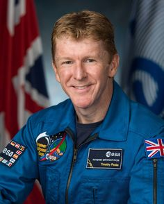 Official NASA portrait of British astronaut Timothy Peake