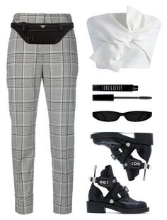 """Chess"" by baludna ❤ liked on Polyvore featuring Alexander Wang, Prada, Balenciaga, Chicwish and Lord & Berry"