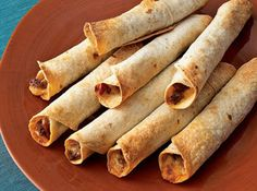 Easy Taquitos...I used different fillings, but they were great and a great new way to have Mexican food