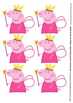 Molde Tubete Peppa Pig Princesa Twin First Birthday, 2nd Birthday Parties, Birthday Party Decorations, Peppa Pig Princesa, Cumple Peppa Pig, Princess Peppa Pig Party, Peppa Pig Gratis, Invitacion Peppa Pig, Pippa Pig