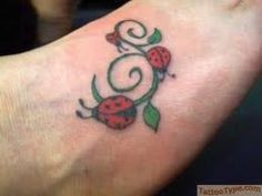 Ladybug Tattoos And Meanings-Ladybug Tattoo Designs And Ideas