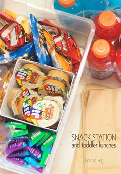 back to school lunches and a snack station for toddlers #AHugeSale #ad #CBias