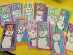 Cool Colors -K- Snowman Art