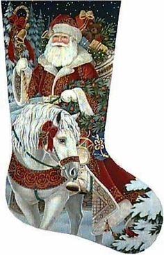 Needlepoint Christmas Stocking Canvases - needlepoint stocking canvases and many more hand painted needlepoint designs. Cross Stitch Christmas Stockings, Cross Stitch Stocking, Christmas Stocking Holders, Cross Stitch Kits, Counted Cross Stitch Patterns, Cross Stitch Embroidery, Xmas Stockings, Quilt Stitching, Cross Stitching